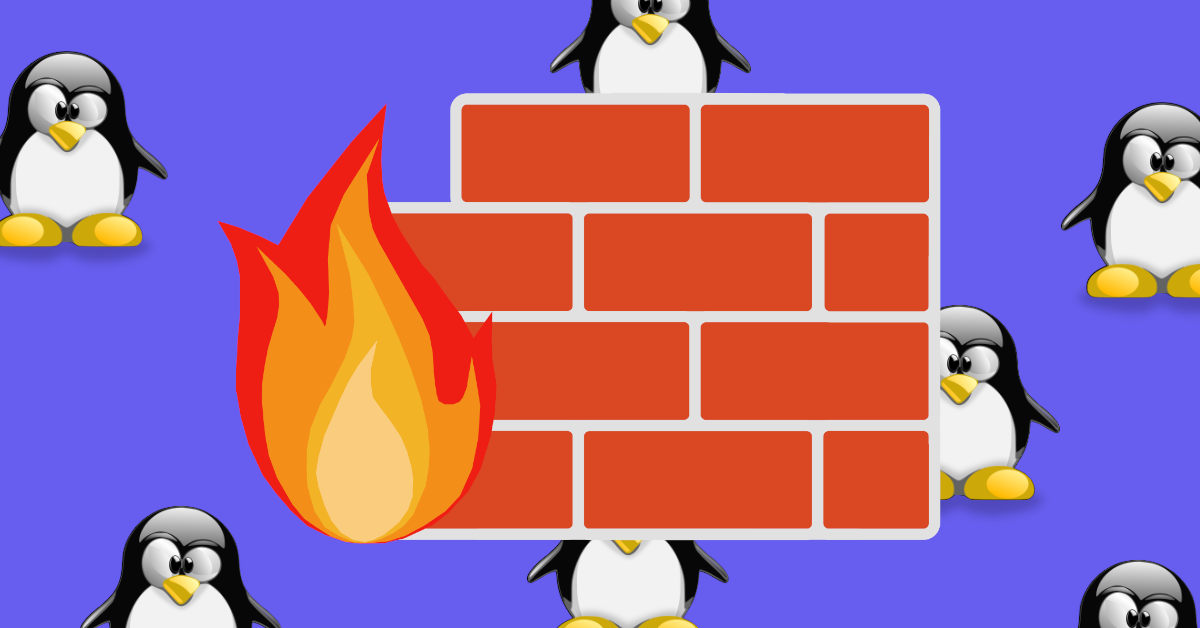 how to set up a simple firewall in linux