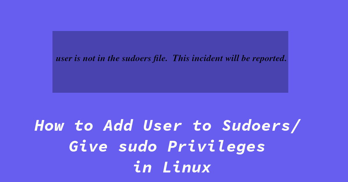 add user to sudoers in linux
