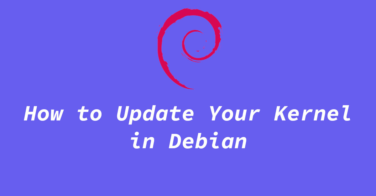 update or install newer kernel in debian