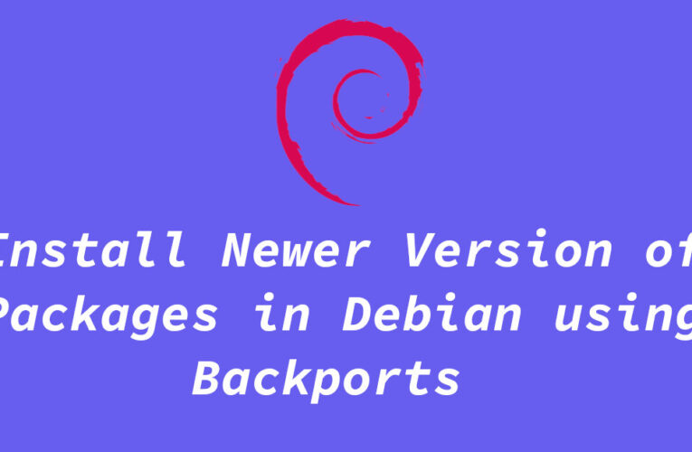 Install Newer Version of Packages in Debian using Backports